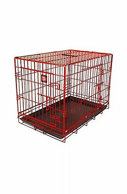 James & Steel My Pet Dog Crate, Red, 36-inch - Dogs Life car travel home cage