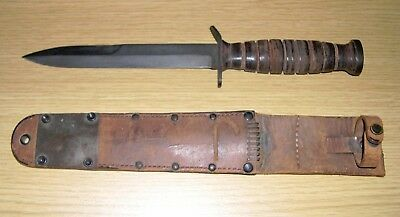 US WW2 M3 Fighting Knife With M6 Scabbard