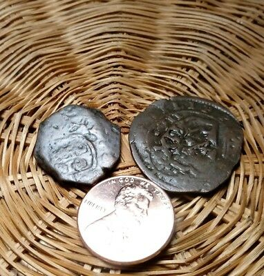 2 Great Ancient Spanish Coins #17 NO RESERVE