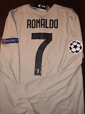 purchase cheap e991a c4312 CRISTIANO RONALDO #7 Juventus LONG SLEEVE Away UCL 18/19 Jersey (NWT)