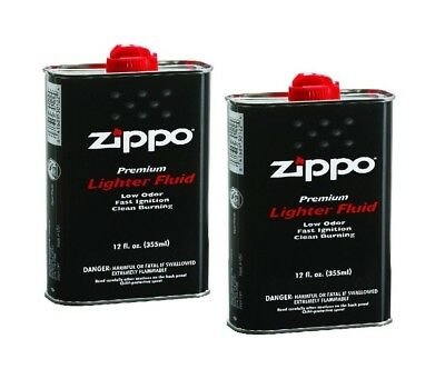 pack of 2 Genuine Zippo 12.oz Fuel Fluid for All Zippo Lightesr 12FC-Z
