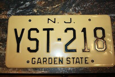 New Jersey   License Plate Vintage