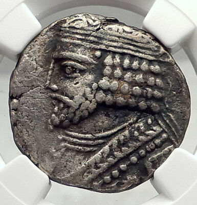 VARDANES I Parthia King 38AD Authentic Ancient Greek Tetradrachm Coin NGC i72931