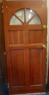 Wholesale Price Vintage Exterior Solid Wood Door W/ Glass Pane Arch Estate # 55