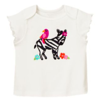 *new* Gymboree Little Girls Size 2T Wild For Zebras Animal Friends Top