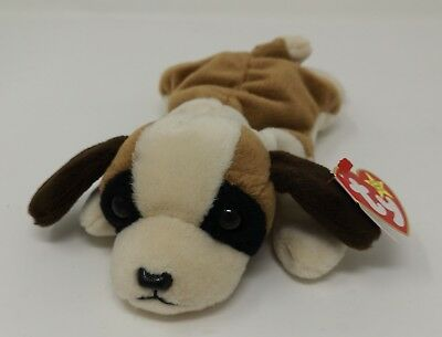 TY Beanie Baby with Tags - Bernie the St, Bernard Dog - 1996 - PVC tag
