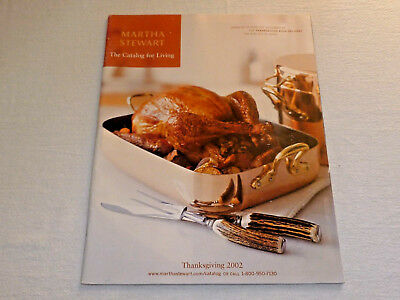 Martha Stewart The Catalog for Living THANKSGIVING 2002 Holiday + Cooking + Home