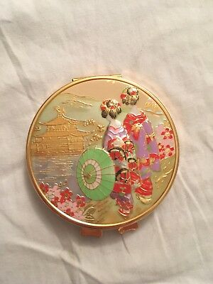 Double Sided Gold Geisha Cosmetic Mirror For Purse Makeup