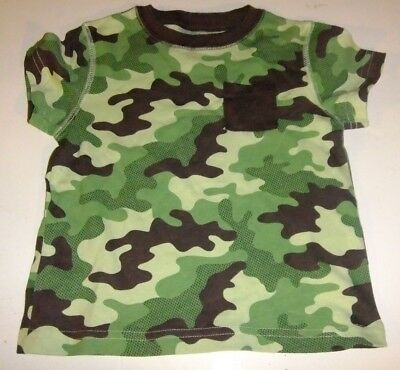 Boy's Size 18 Months Green Camouflage T-Shirt NWT Short Sleeves