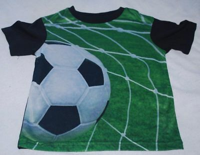 Boy's Size 24 Months Green Soccer Game Sports T-Shirt NWT Short Sleeves