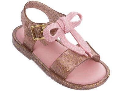 dfaa59d3c9f1 2019 Color Matching Knot Girls Mini Melissa Shoes Sandals US Size 7-11 EUR  22