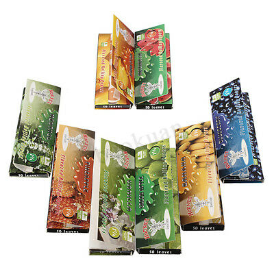 Different Fruit Flavour Cigarette Tobacco Rolling Papers 50 Leaves 80mm x20mm !