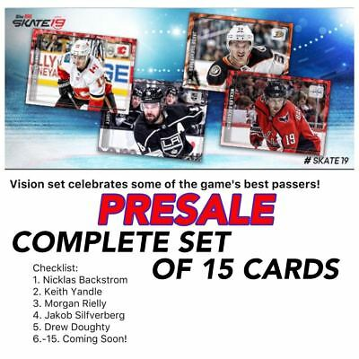 18-19 VISION PRESALE COMPLETE SET OF 15 (BACKSTROM+++) Topps NHL Skate Digital