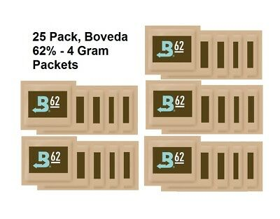 25 Pack - Boveda - RH 62% 4 gram Humidity 2 Way Control Humidor SAVE $ BAY HYDRO