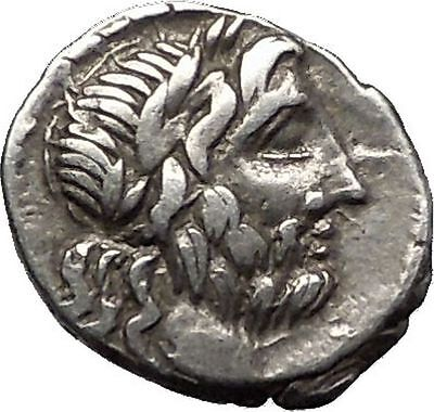 Roman Republic WIN vs HANNIBAL 2nd PUNIC WAR 88BC Ancient Silver Coin i55465