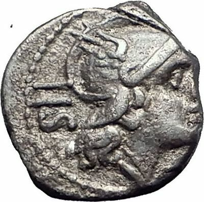 Roman Republic WARv HANNIBAL 2nd PUNIC WAR Ancient Silver SESTERTIUS Coin i63939