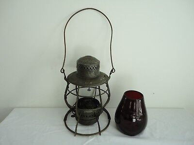 Antique B.&S. RY. Dietz Steel Clad Railroad Lantern
