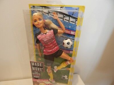 New Barbie Doll Made To Move Soccer Player