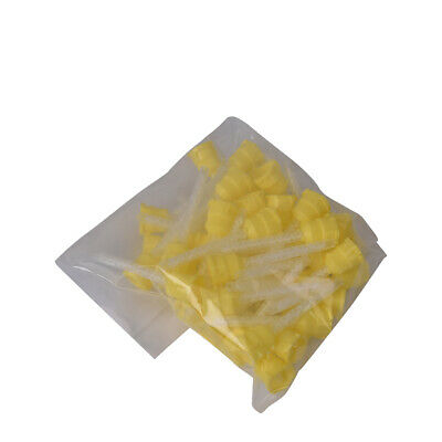Disposable Dental Impression Mixing Tips Silicone Rubber Film - Yellow - 50pcs