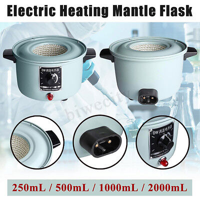 220V Electric Heating Mantle Thermal Regulator Flask Lab 250/500/1000/2000mL