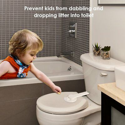 Lot Baby Kid Safety Toilet Lock Baby Proof Toilet Lid Adhesive Mount Safety Lock