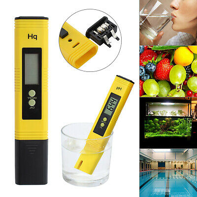 Protable Digital LCD PH Meter Pen Tester for Hydroponics Aquarium Pool Water