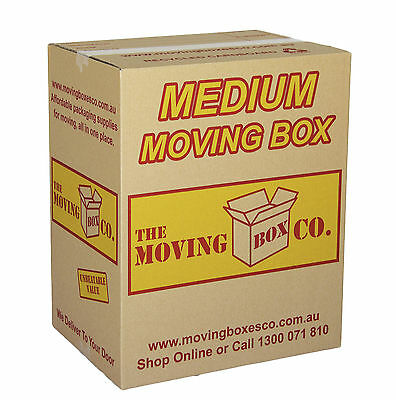 20x 61L MOVING BOXES MEDIUM $2.95 EACH , CARDBOARD REMOVALIST PACKING CARTONS