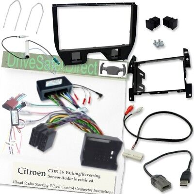 car stereo stalk adaptor interface Citroen C3 steering wheel control lead