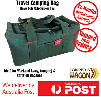 Duffle Bag Shoulder Carry On Luggage Unisex Travel Camping Heavy Duty Canvas 37L