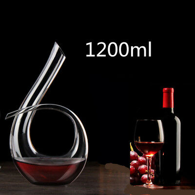 Luxurious 1.2L Crystal Glass Wine Decanter Wine 6-Shape Pourer Red Wine Carafe!