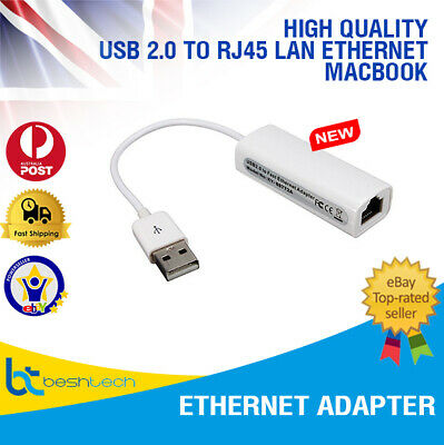 USB 2.0 to RJ45 LAN Ethernet Network Adapter For Apple Mac MacBook Air Laptop PC