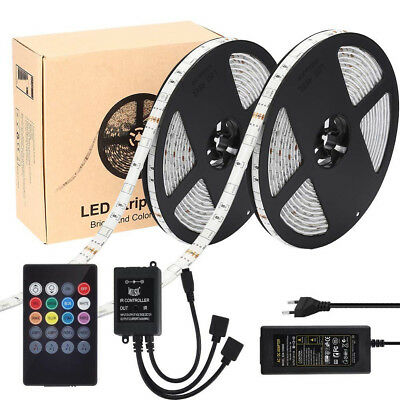 10M RGB 5050 SMD 300LEDs Led Strip Led Bands Music Sound Sensor Remote Control