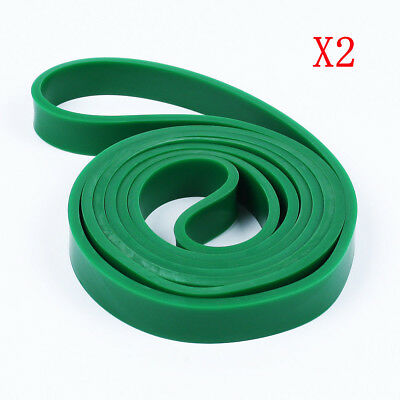 Set of 2 Heavy Duty Resistance Band Loop Power GYM Fitness Exercise YOGA WORKOUT