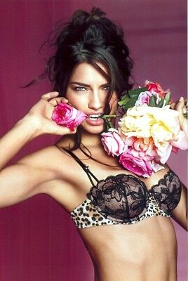 Adrianna Lima - In A Bra, Biting A Rose !!!!