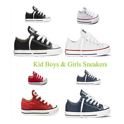 Kid Boy Girl Unisex Athletic Shoes Low OX Trainer Casual Canvas Sports Sneakers