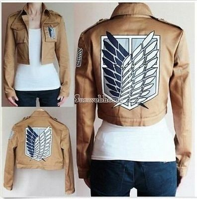 Attack on Titan Shingeki no Kyojin Scouting Legion Cosplay Jacket Coat Eren jage