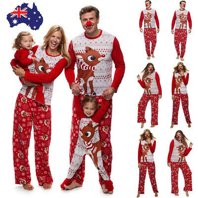 Family Christmas Pajamas Set Xmas Pjs Matching Pyjamas Adult Kids Xmas Sleepwear