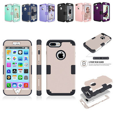 Armor Case for iPhone XS Max XR X 6 7 8 Plus Shockproof Rubber Protective Cover