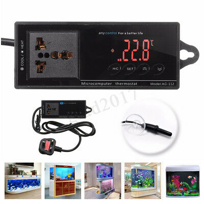 220V NTC Digital Thermostat Temperature Controller for Reptile Aquarium  new