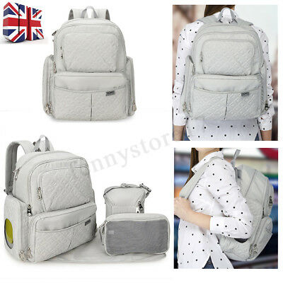 5Pcs Baby Diaper Nappy Multi-Function Mummy Changing bag Backpack Hospital Bag