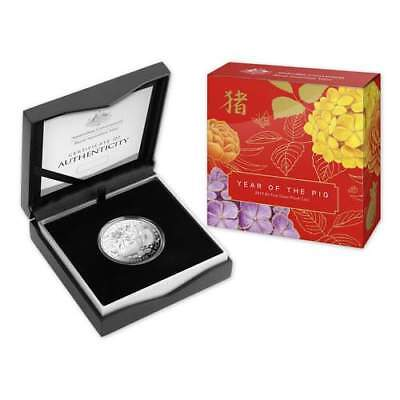 2019 $5 Lunar Year of the Pig 1oz Fine Silver Proof Coin