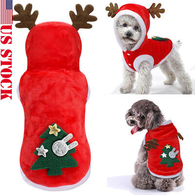 Small Dog Puppy Sweater Warm Clothes Pet Costume Coat Apparel New XMAS THEME