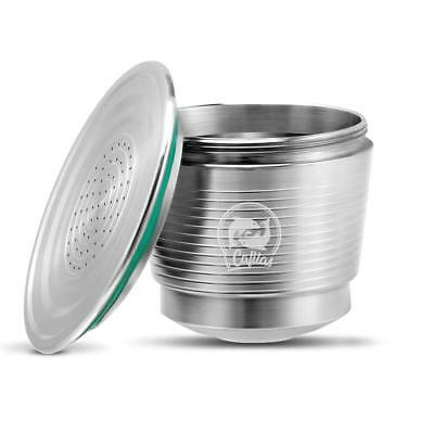 Stainless Steel Refillable Reusable Coffee Filter Filling Capsule Pod Nespresso