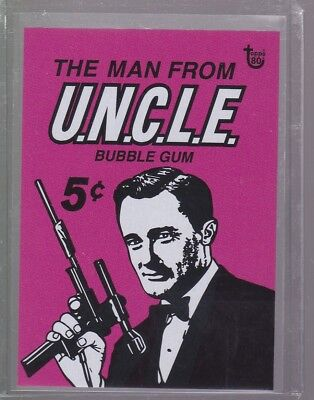 2018 Topps 80th Anniversary Wrapper Art Card #86 - 1965 The Man from U.N.C.L.E.