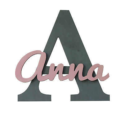 Large Wooden Custom Kids Room Decor Sign, Nursery Name Letter for Baby Wall