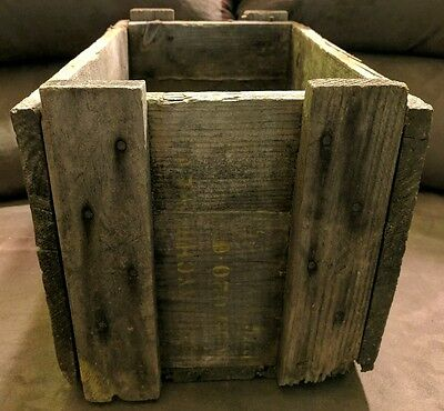 Vintage Early Us Army Military Explosives Bomb Parts Wood Wooden Box Create