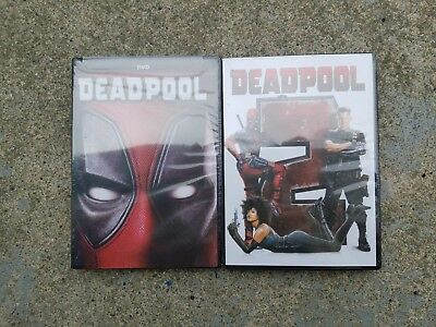 Deadpool 1 and Deadpool 2 (DVD, 2018) Movie Bundle Combo New Free Shipping!