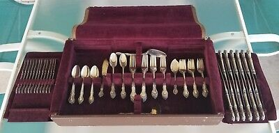 89pc Gorham Sterling Silver English Gadroon Service for 12 Flatware set +Serving