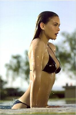 Bar Rafaeli - Pulling Herself Out Of A Pool, Totally Wet In Black Bikini !!!!