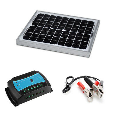 Kit panel solar 10W 12V with regulator charge for site isolated (10 watts)